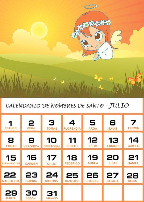 Días de santos de Julio