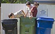 Enseña a los niños a reciclar