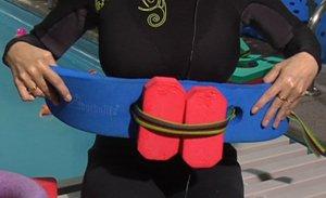 Cinturón con dos corchos