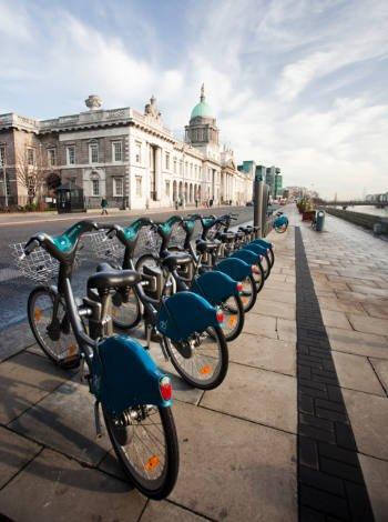 Moverse en bicicleta por Dublín