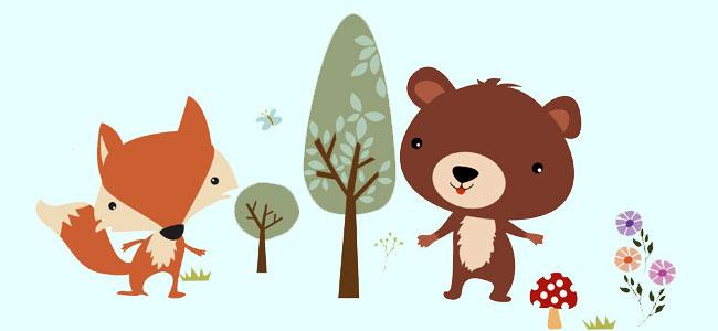 Cuento para niños. La amistad de un zorro y un oso
