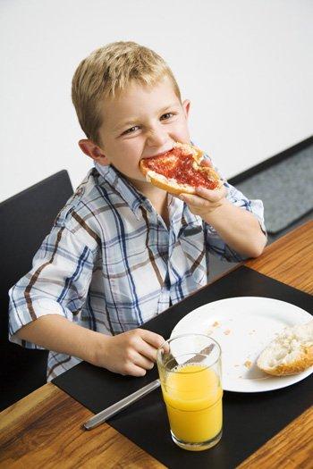 Desayuno ideal para los niños