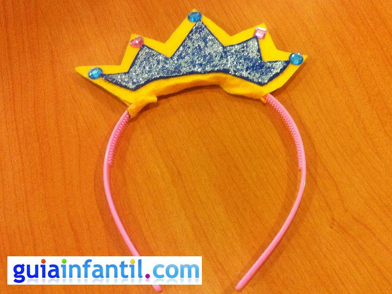 Nuevos objetos mejor lugar para vista previa de Diadema de princesa. Manualidades de Carnaval