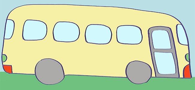 Dibujar un autobús