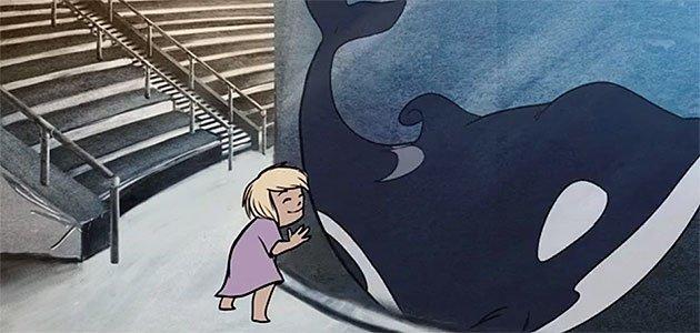 Niña con orca