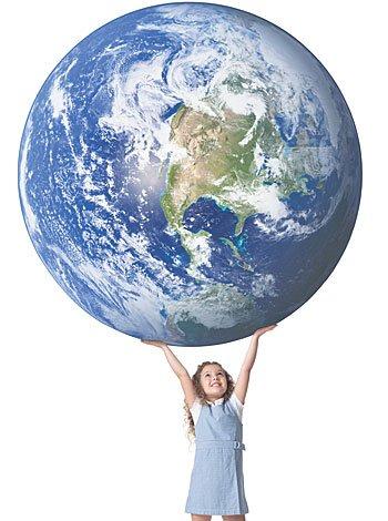 El respeto de los niños por el planeta y medio ambiente