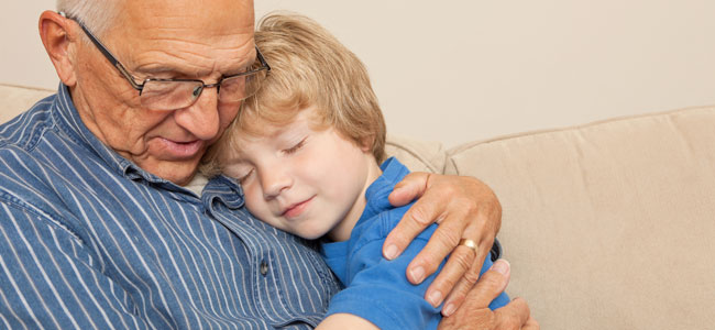Abuelos paternos con los nietos en un caso de divorcio