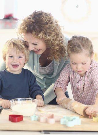 Lo que aprenden los niños en la cocina