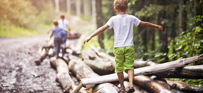 El beneficio de la naturaleza en los niños