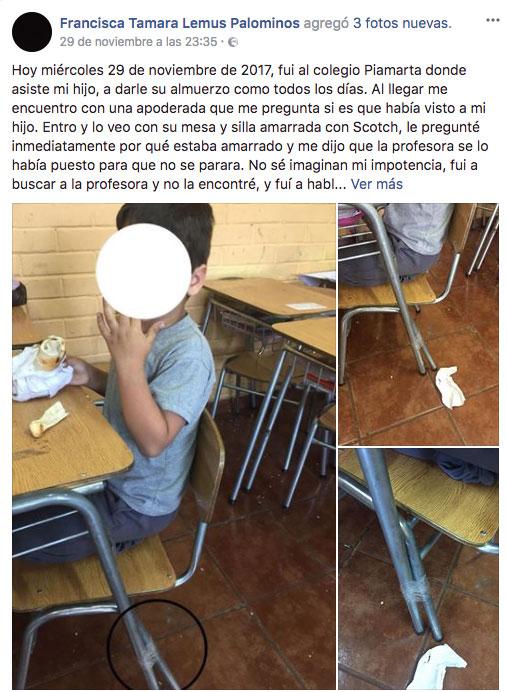 La medida de una profesora para castigar a su alumno