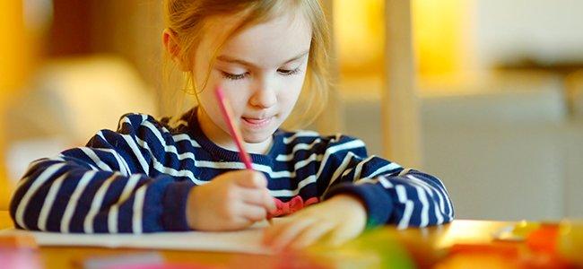 Los deberes escolares de los niños