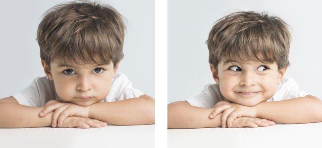 Niño con doble personalidad