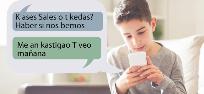 Faltas de ortografía de los niños derivadas del uso de la tecnología