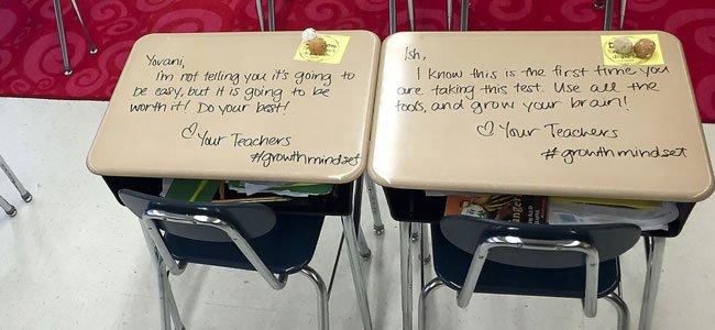 Las motivadoras frases que una profesora deja en los pupitres a sus ...