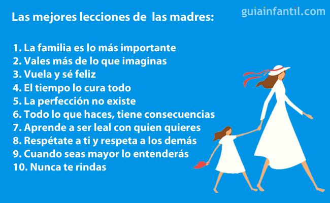 Lecciones de las madres a los hijos