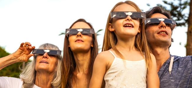 eclipse solar con los niños