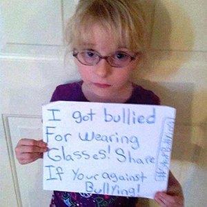 La foto que Lexie publicó en Facebook contra el acoso