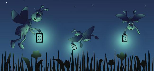 poema infantil de animales: luciérnaga