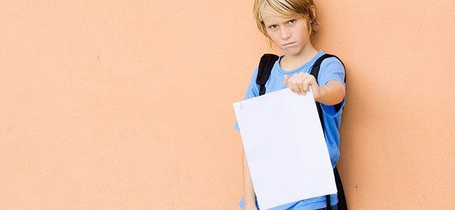 Por qué suspenden los niños