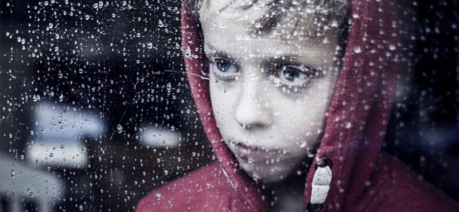 Miedo de los niños a la tormenta
