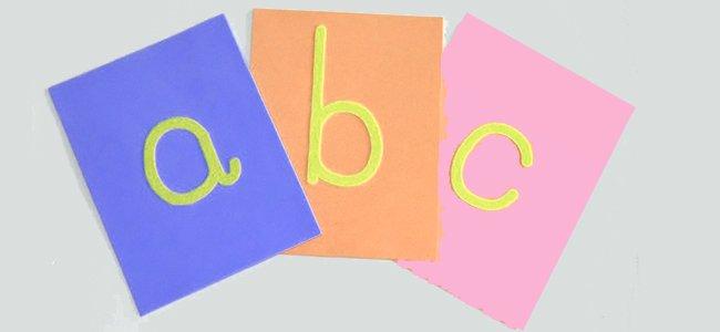 Letras de lija del método Montessori para aprender a leer y escribir