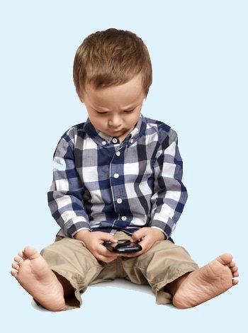 El uso de los móviles por los niños
