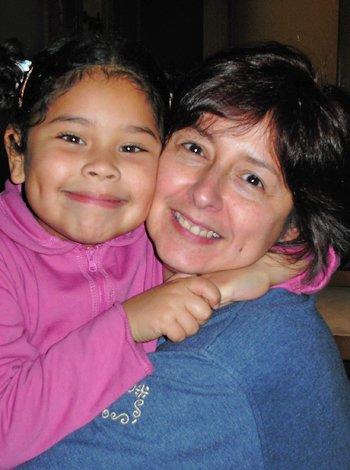 Vilma Medina y su hija Clara