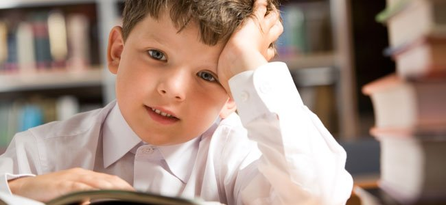 Niño estudia