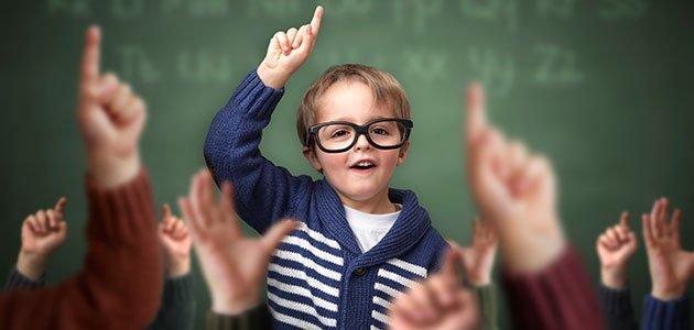 Niño líder de la clase
