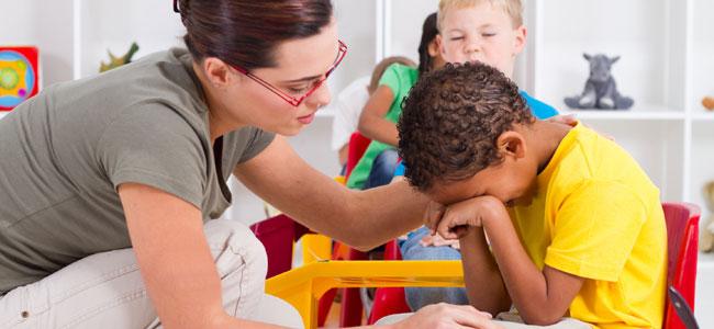 Cuando el alumno llora en clase