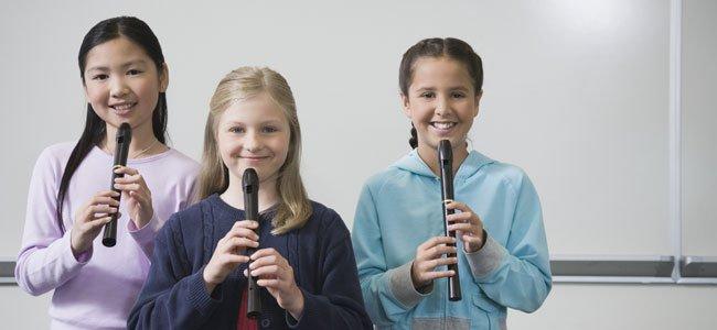 Niñas con flauta