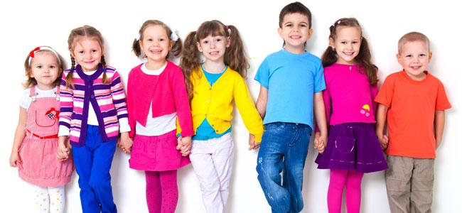 Niños de distintas edades