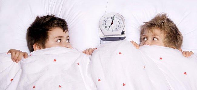 Los niños y el cambio de hora