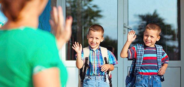 Niños vuelven al colegio