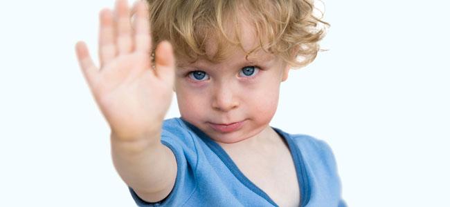 Cuando el niño rechaza el contacto físico