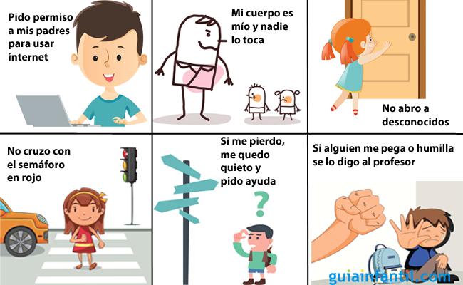 Normas de seguridad para niños