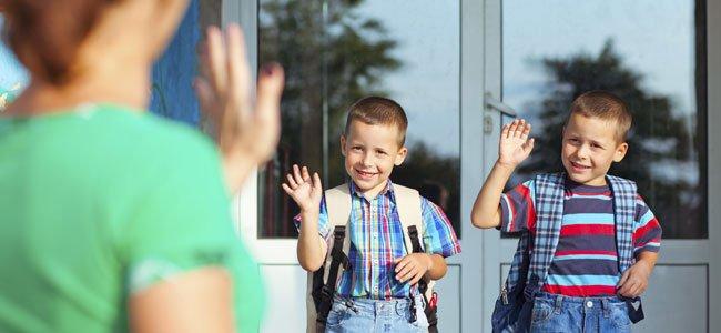 Dudas de los padres sobre el primer día de colegio de los niños