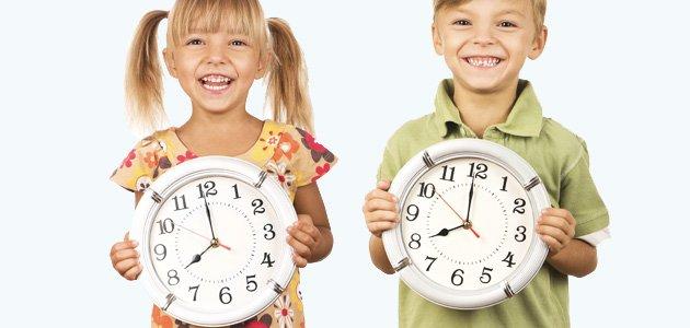 Enseñar a los niños a que sean puntuales