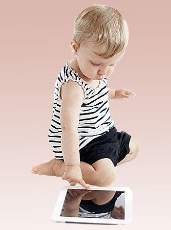 El uso de los smartphone por bebés y niños