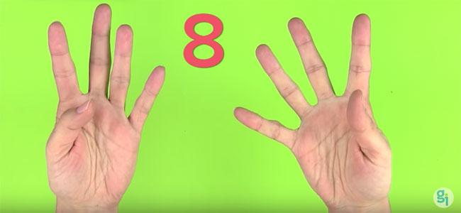 truco de la tabla del 8