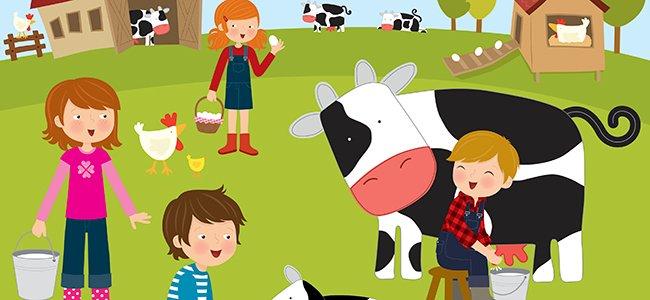 Aprender idiomas con los animales de la granja.
