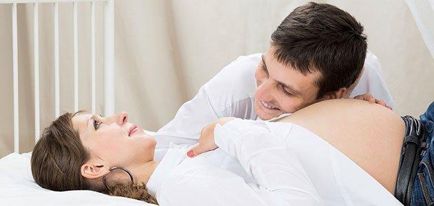 embarazada tumbada