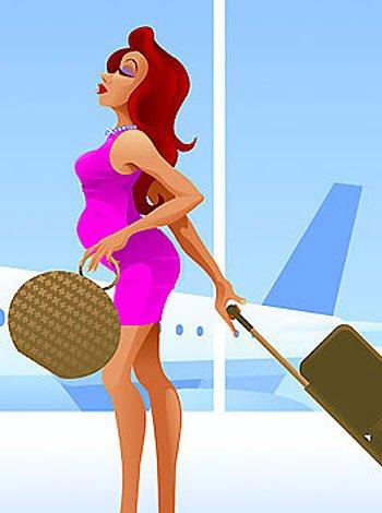 Lo que debe saber la mujer embarazada antes de viajar en avión
