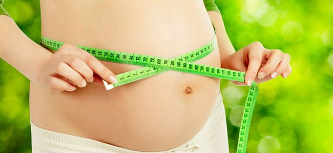 embarazada en el peso