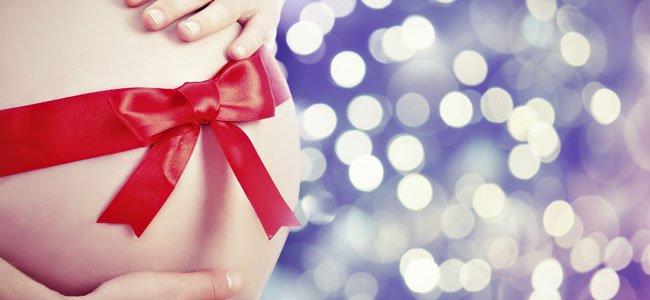 Barriga embarazada en Navidad