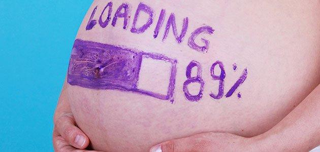 Tripa de embarazada pintada carga