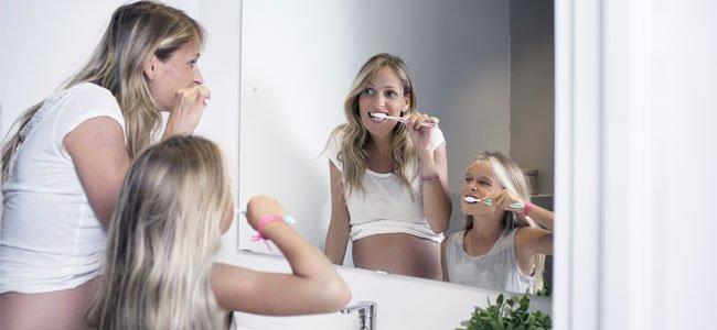 El cuidado de los dientes durante el embarazo