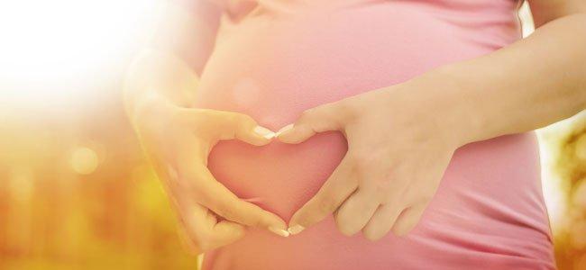 Embarazada con corazón