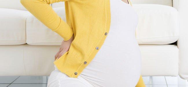 Embarazada con dolor de espalda