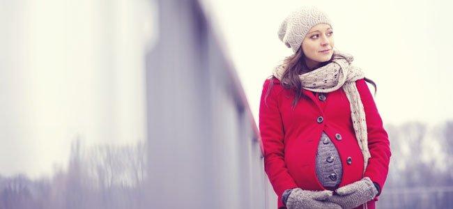 Embarazada en invierno